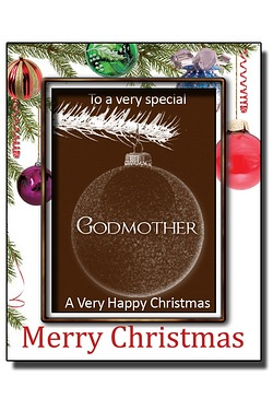 Personalised Christmas Chocolate Bauble with Name: Godmother