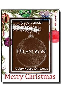 Personalised Christmas Chocolate Bauble with Name: Grandson