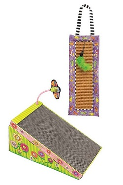 Big Mams Scratch N Play Ramp and Scratchy Mat Doorknob Hanger Cat Toy
