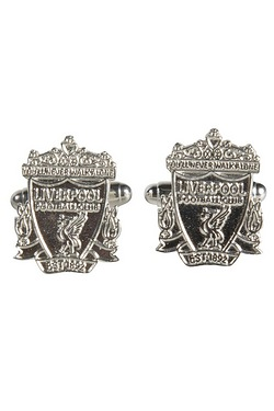 Liverpool Football Club Sterling Silver Crest Cufflinks