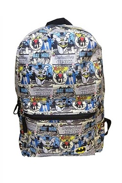 Batman and Robin Backpack
