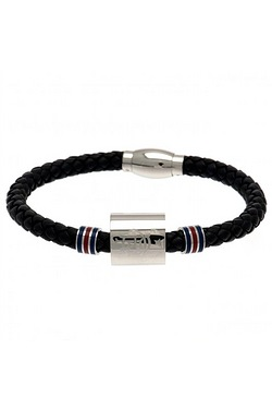 Rangers Football Club Stainless Steel/Leather Bracelet