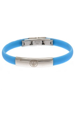 Manchester City Football Club Stainless Steel/Silicone Bracelet