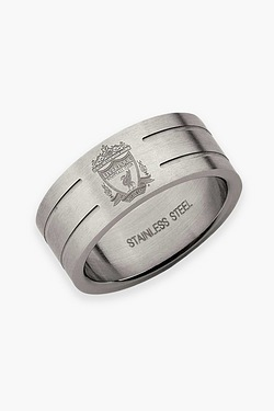 Liverpool Football Club Stainless Steel Band Ring
