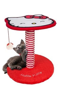 Hello Kitty Cat Activity Post With Fur Ball