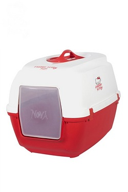 Hello Kitty Hooded Cat Litter Tray