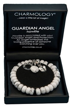 Charmology Guardian Angel Howlite Bracelet