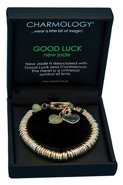 Charmology New Jade Good Luck Link Bracelet