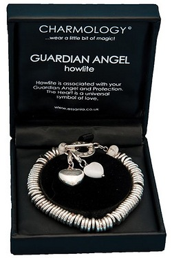 Charmology Guardian Angel Howlite Ring Bracelet