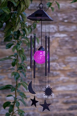 Multi-Colour Solar Light Wind Chime