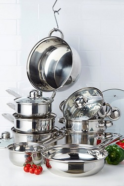 Sabichi 9-Piece Stainless Steel Cookware Set
