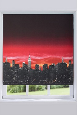 Skyline Blackout Roller Blind - Red