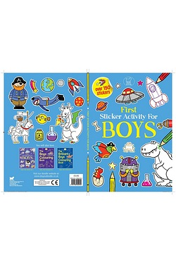 First Sticker Activity Book For Boys