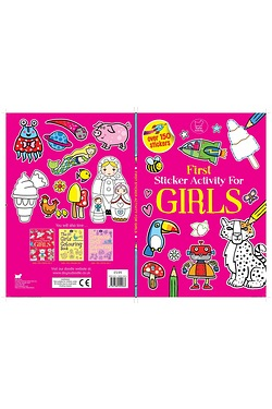 First Sticker Activity Book For Girls