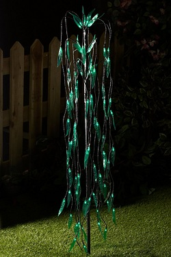 Solar garden lights outdoor lighting studio solar willow tree aloadofball Choice Image