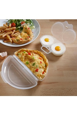 Microwave Egg Poacher and Omelette Set