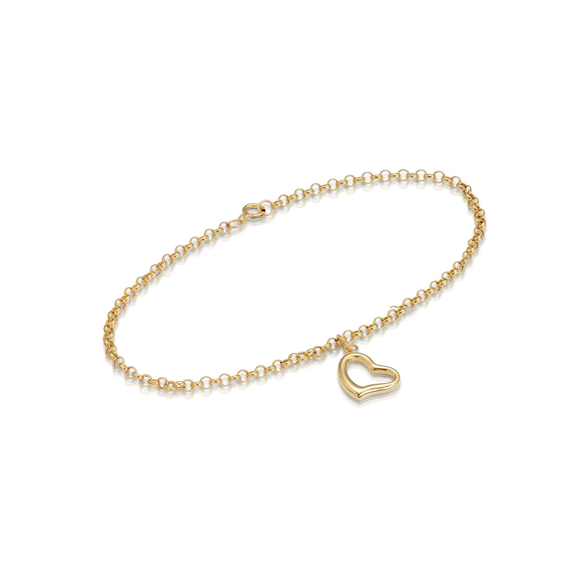 Image of 9ct Yellow Gold Heart Bracelet