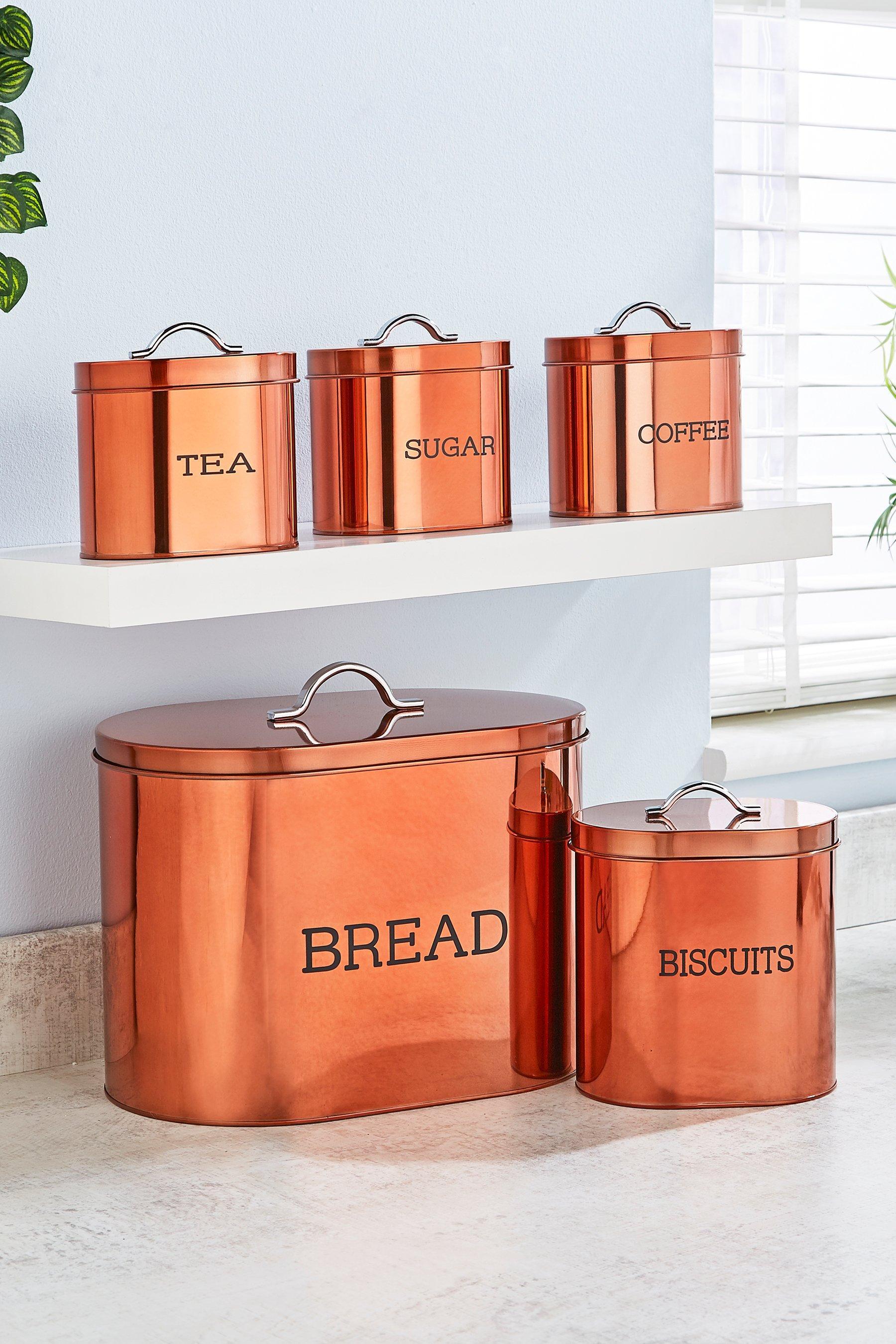 5-Piece Copper Colour Oval Storage Set