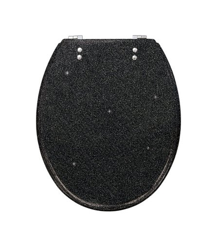 gold glitter toilet seat. Image for Glitter Toilet Seat from studio  Studio