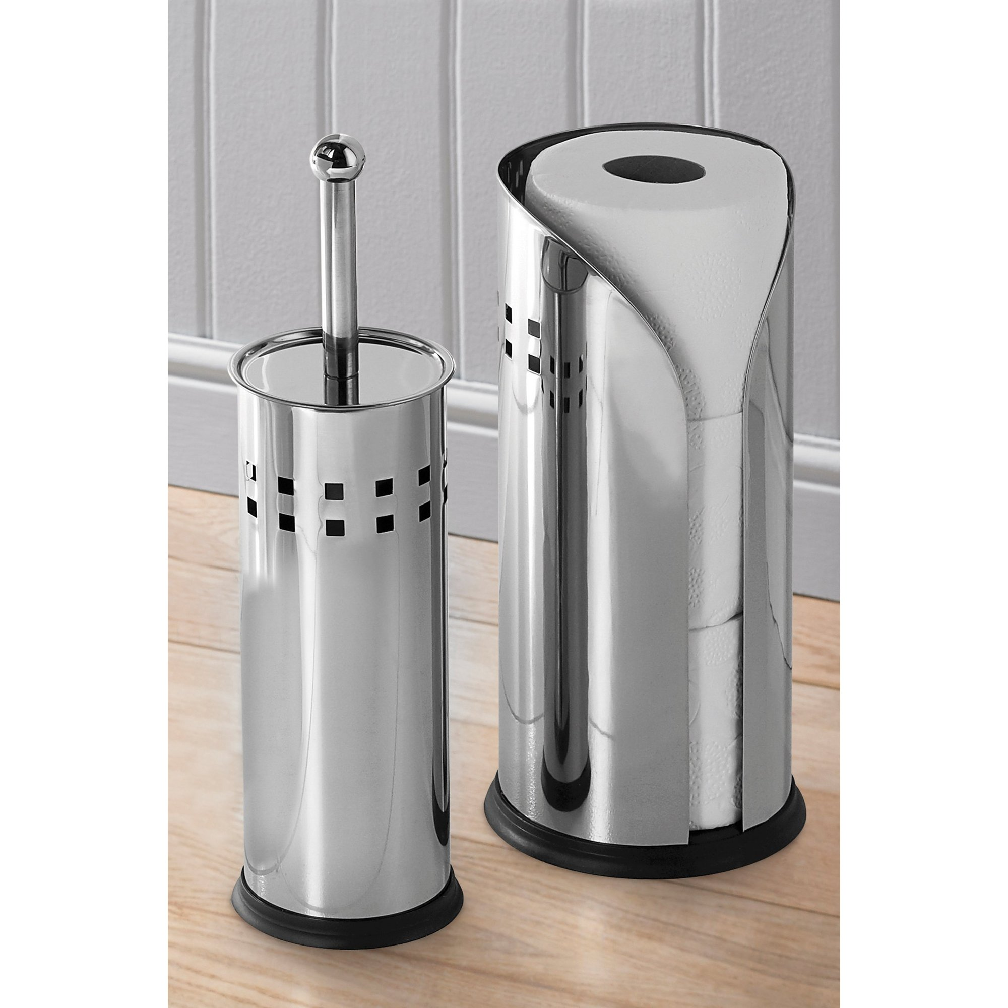 Image of Stainless Steel Toilet Brush and Holder Set
