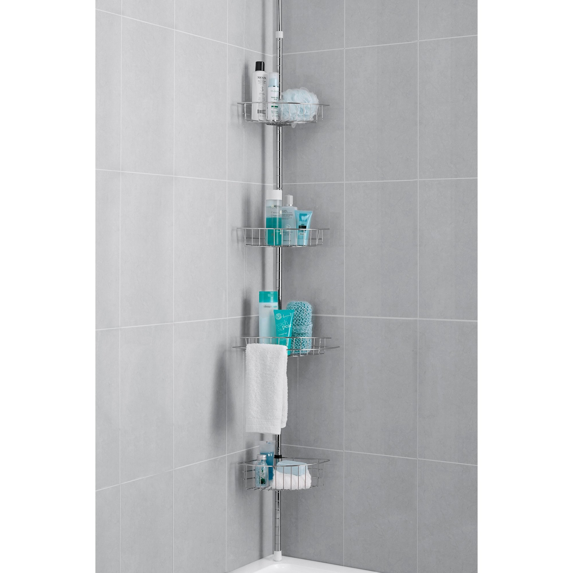 Image of 4-Tier Chrome Finish Bath/Shower Caddy