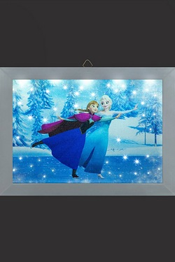 Disney Frozen Elsa and Anna Skating Photo