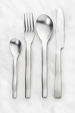32-Piece Wave Forged Cutlery Set + 8 FREE Teaspoons