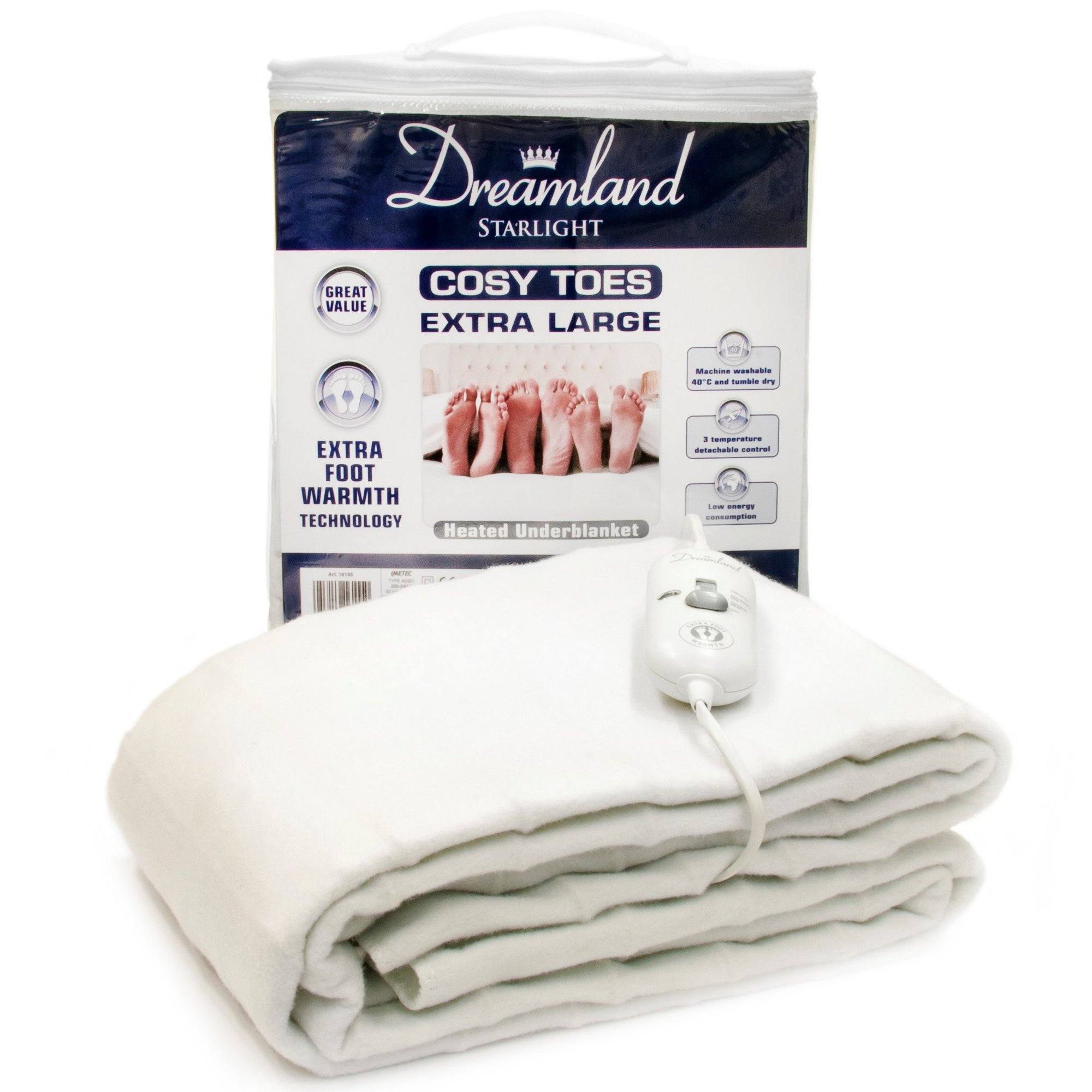 Image of Dreamland Cosy Toes Large Electric Blanket
