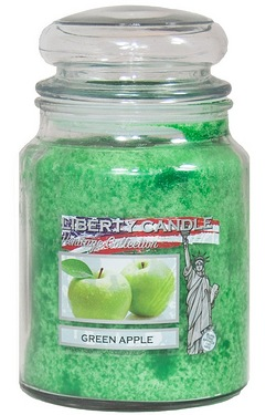 22oz Glass Jar Candle - Green Apple