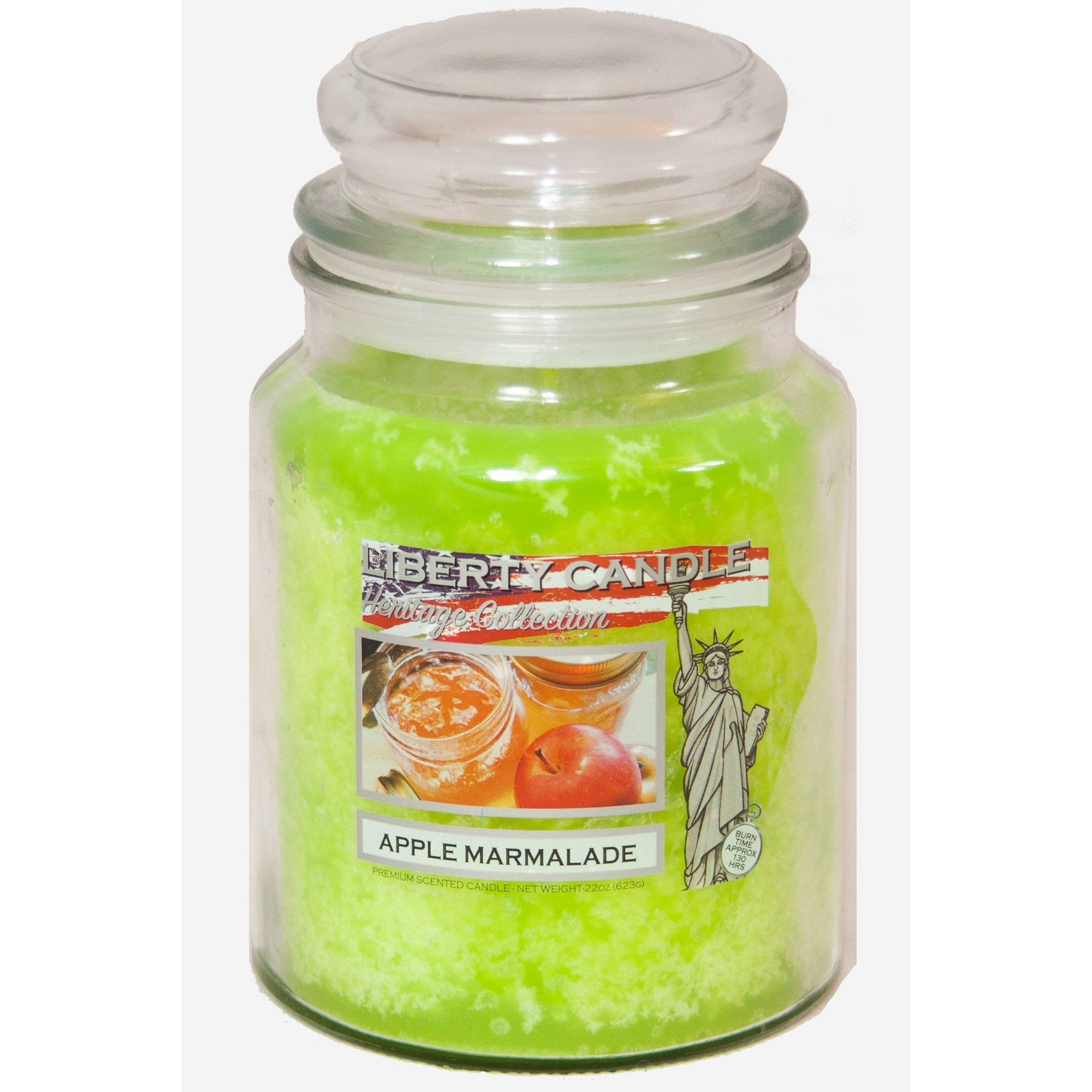 Image of 22oz Glass Jar Candle - Apple Marmalade