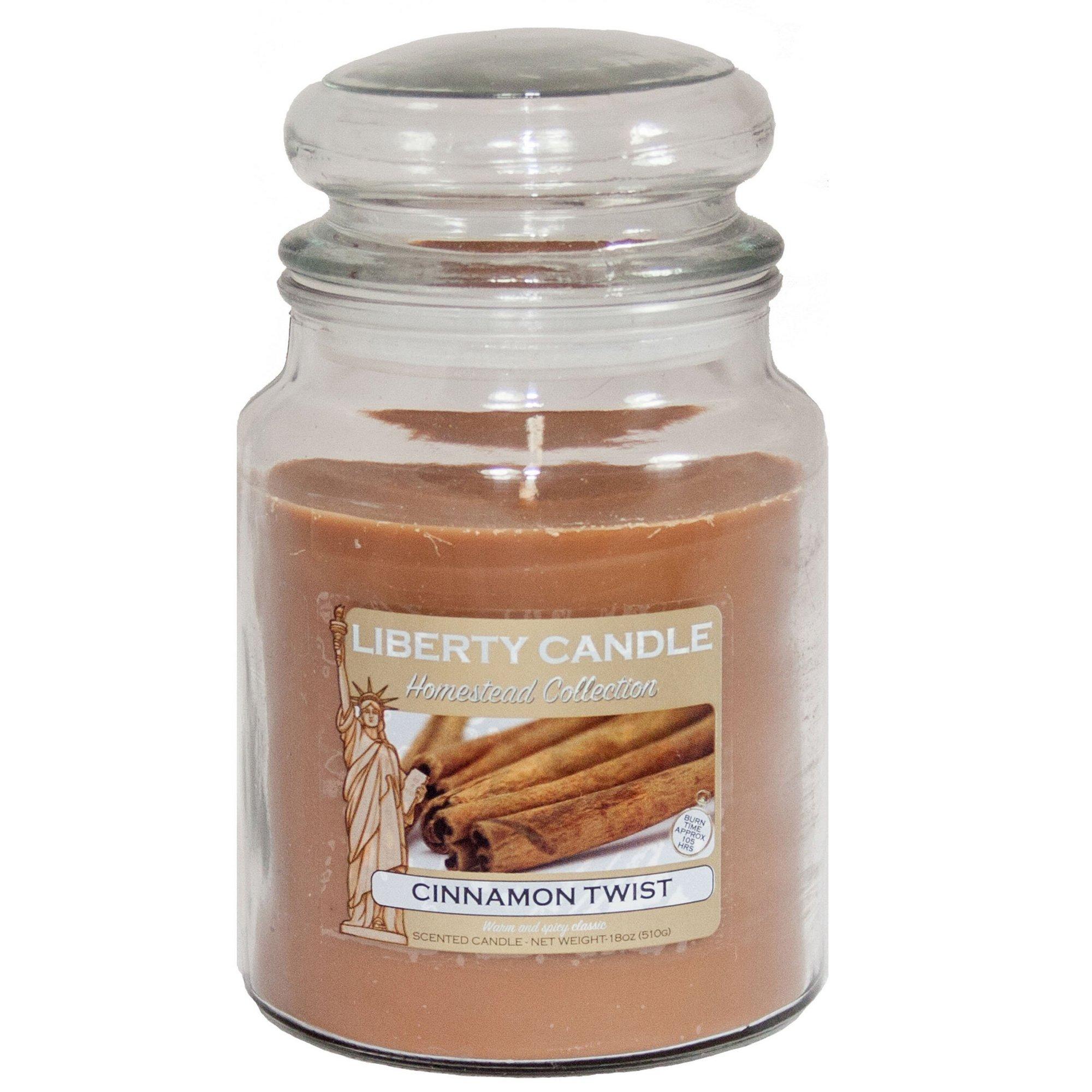 Image of 18oz Glass Jar Candle - Cinnamon Twist