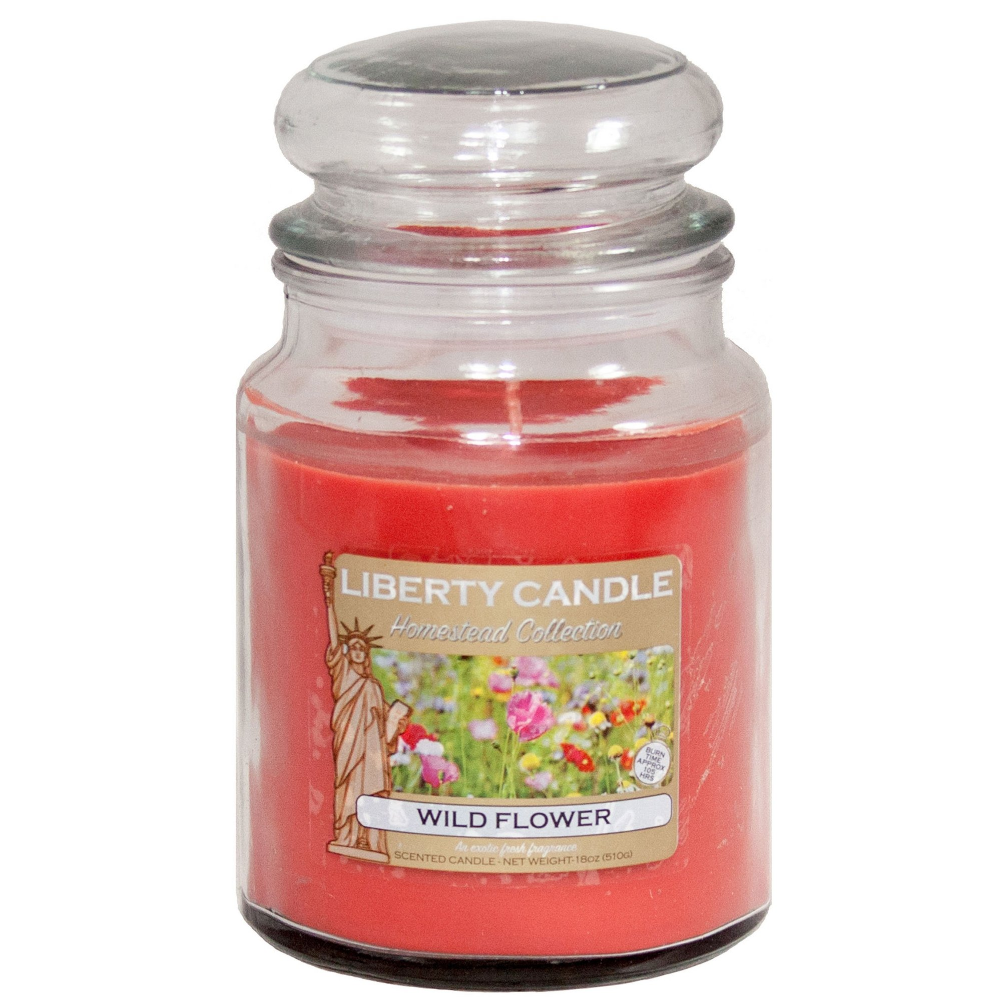 Image of 18oz Glass Jar Candle - Wild Flower