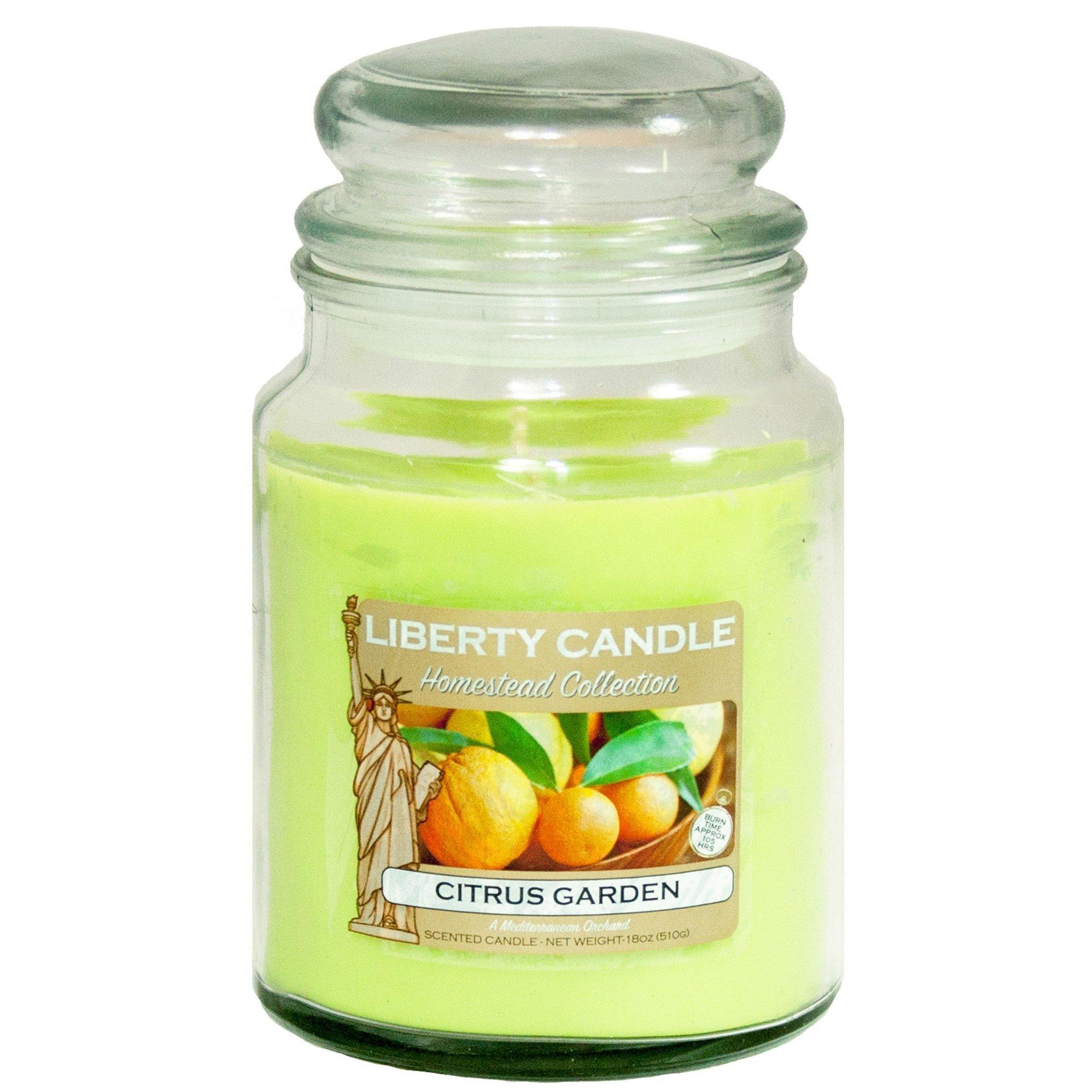 Image of 18oz Glass Jar Candle - Citrus Garden