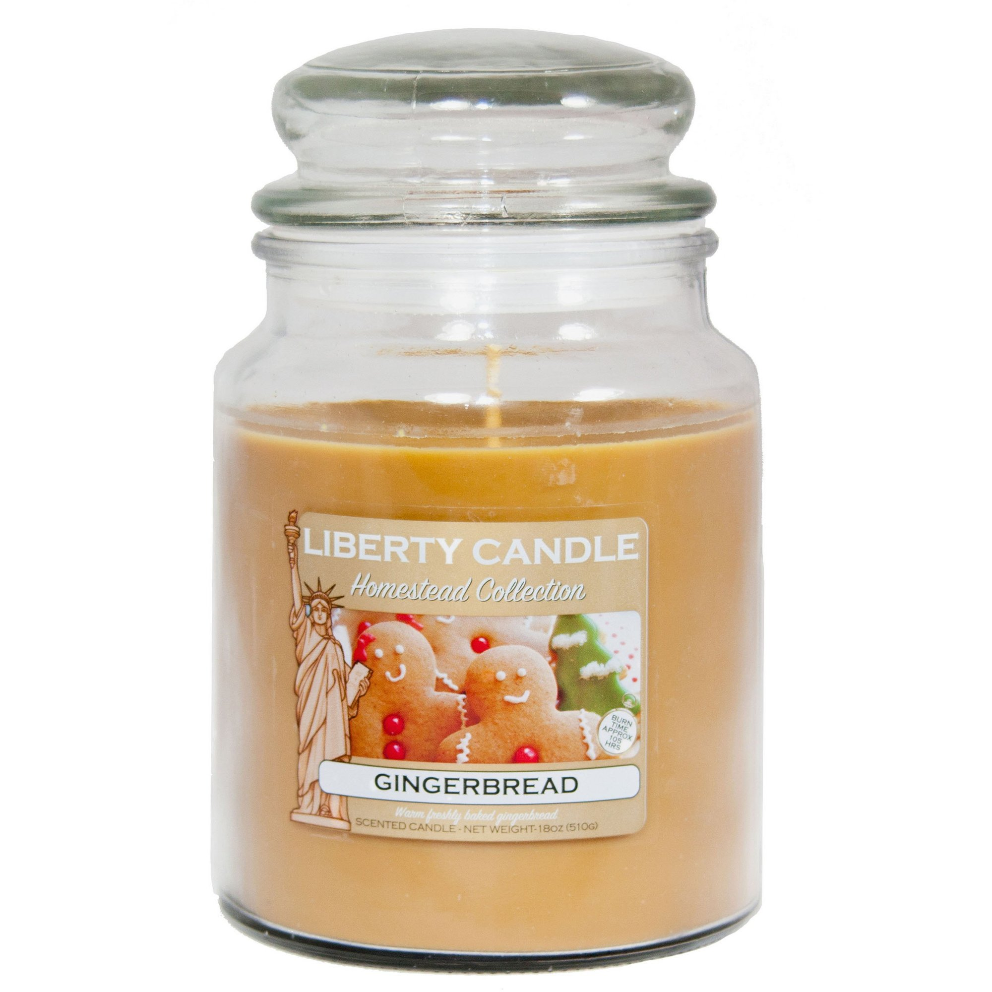 Image of 18oz Glass Jar Candle - Ginger Bread