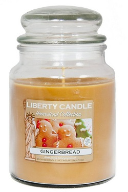 18oz Glass Jar Candle - Ginger Bread