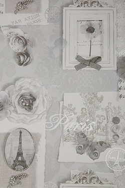 Felicity Silver Foiled Wallpaper