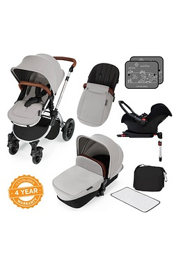 Stomp v3 All In One Travel System With Isofix Base - Silver Frame