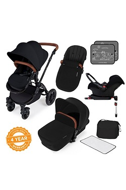 Stomp v3 All In One Travel System With Isofix Base - Black Frame