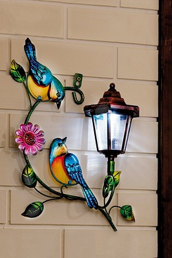 Solar Wall Plaque - Birds