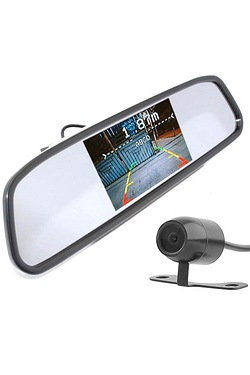 In Phase Wireless Rear View Mirror Monitor With Reversing Camera