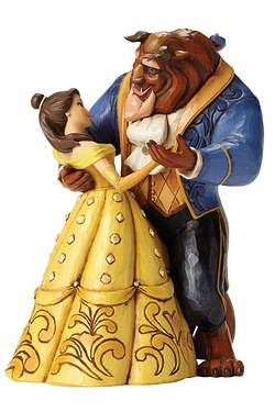 Moonlight Waltz: Belle and Beast Dancing Couple 25th Anniversary Piece