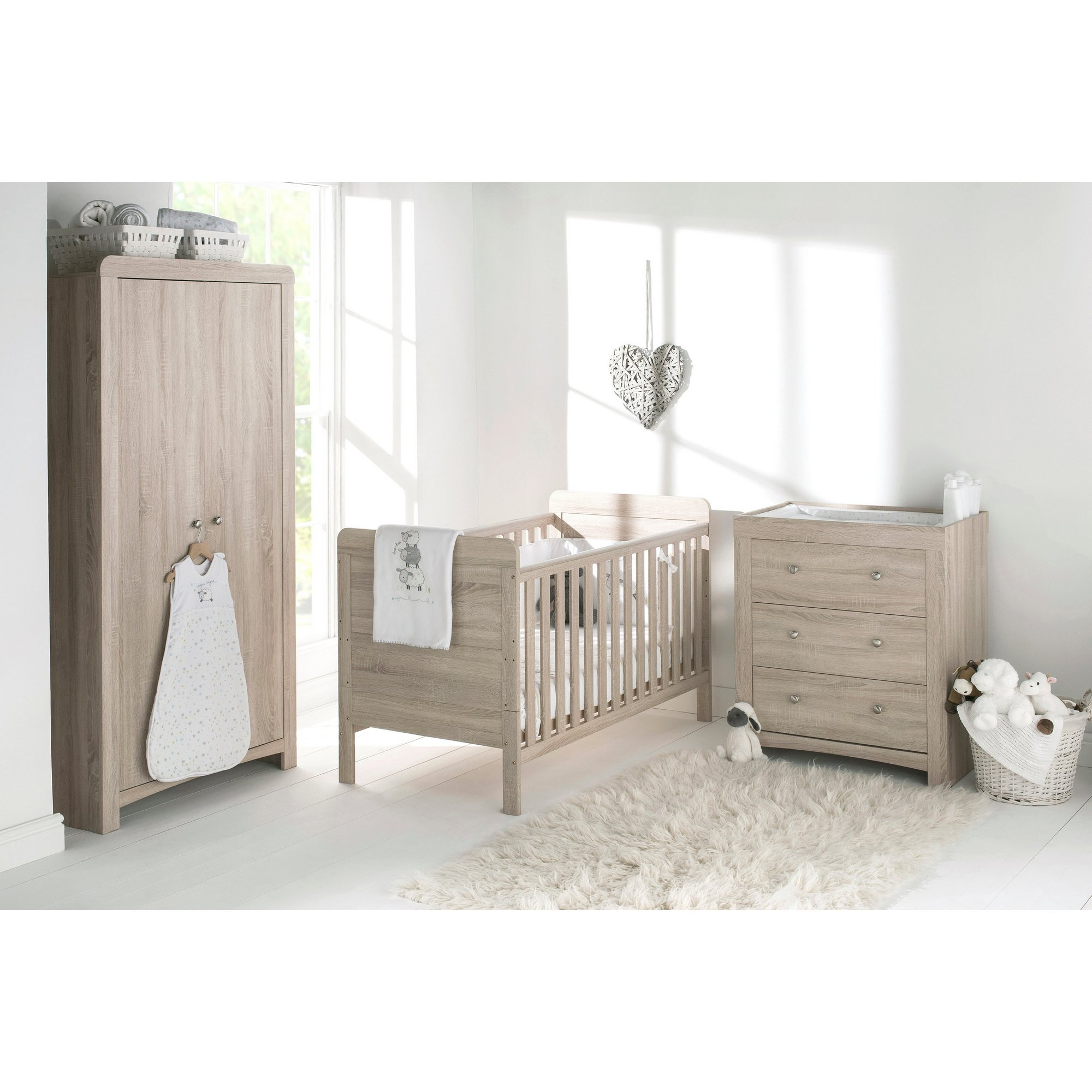 Image of Fontana 3-Piece Nursery Furniture Set