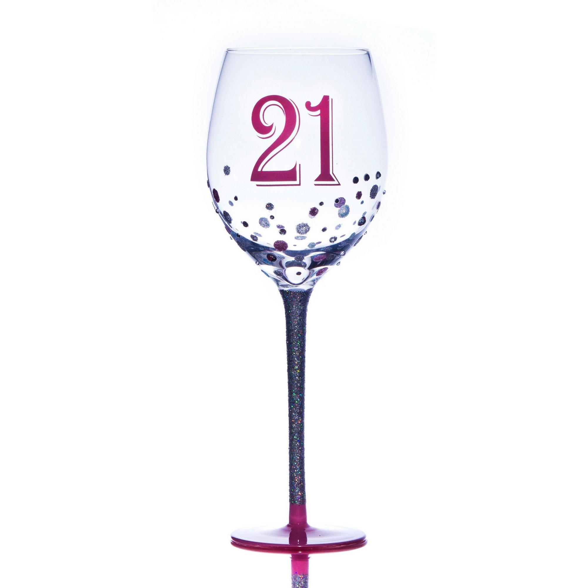 Image of 21st Sparkle Wine Glass