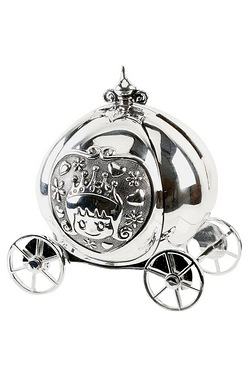 Silverplated Fairytale Carriage Money Box