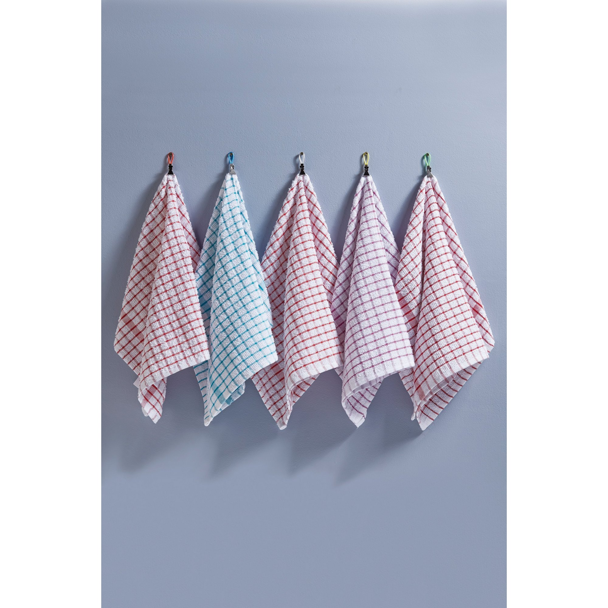 Image of 5 Pack Monocheck Tea Towels