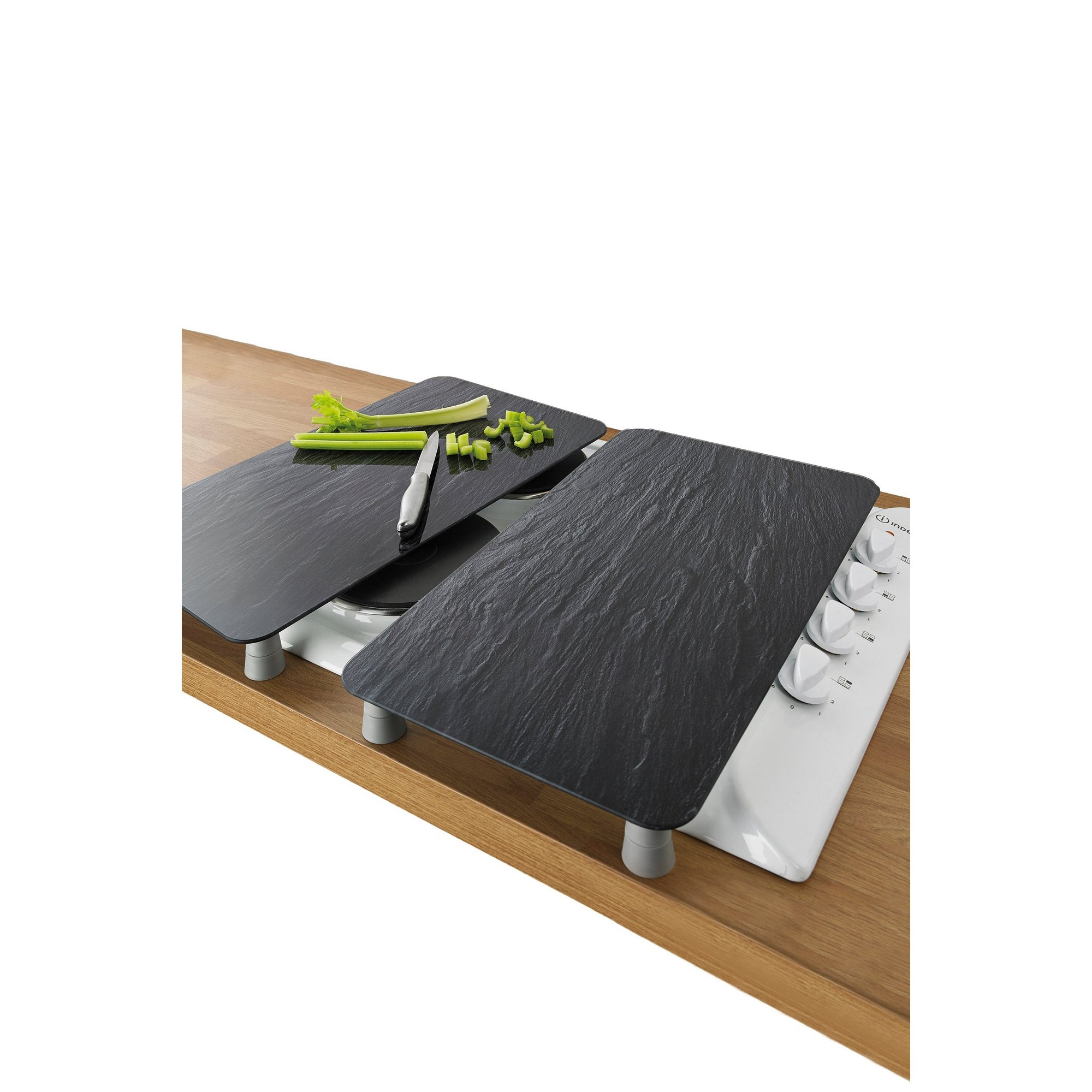 Image of 2-in-1 Slate Effect Glass Hob Covers