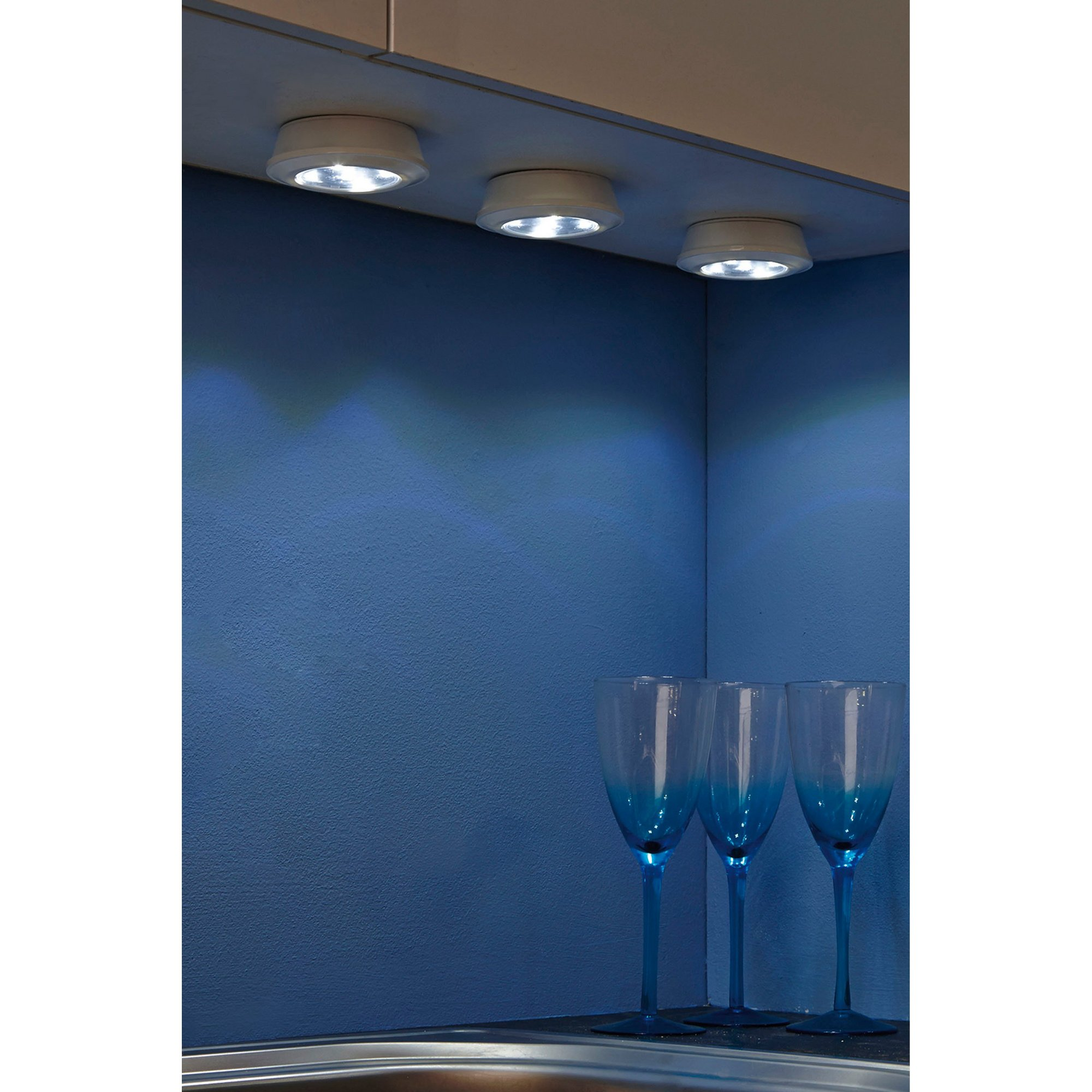 Image of 6-Piece Wireless Push Lights and Remote Control