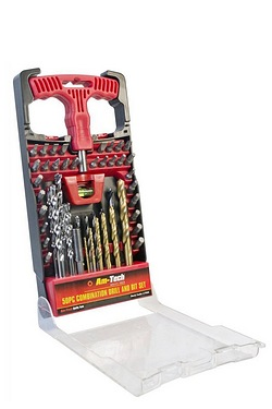 Am-Tech 50 Piece Combination Drill & Bit Set