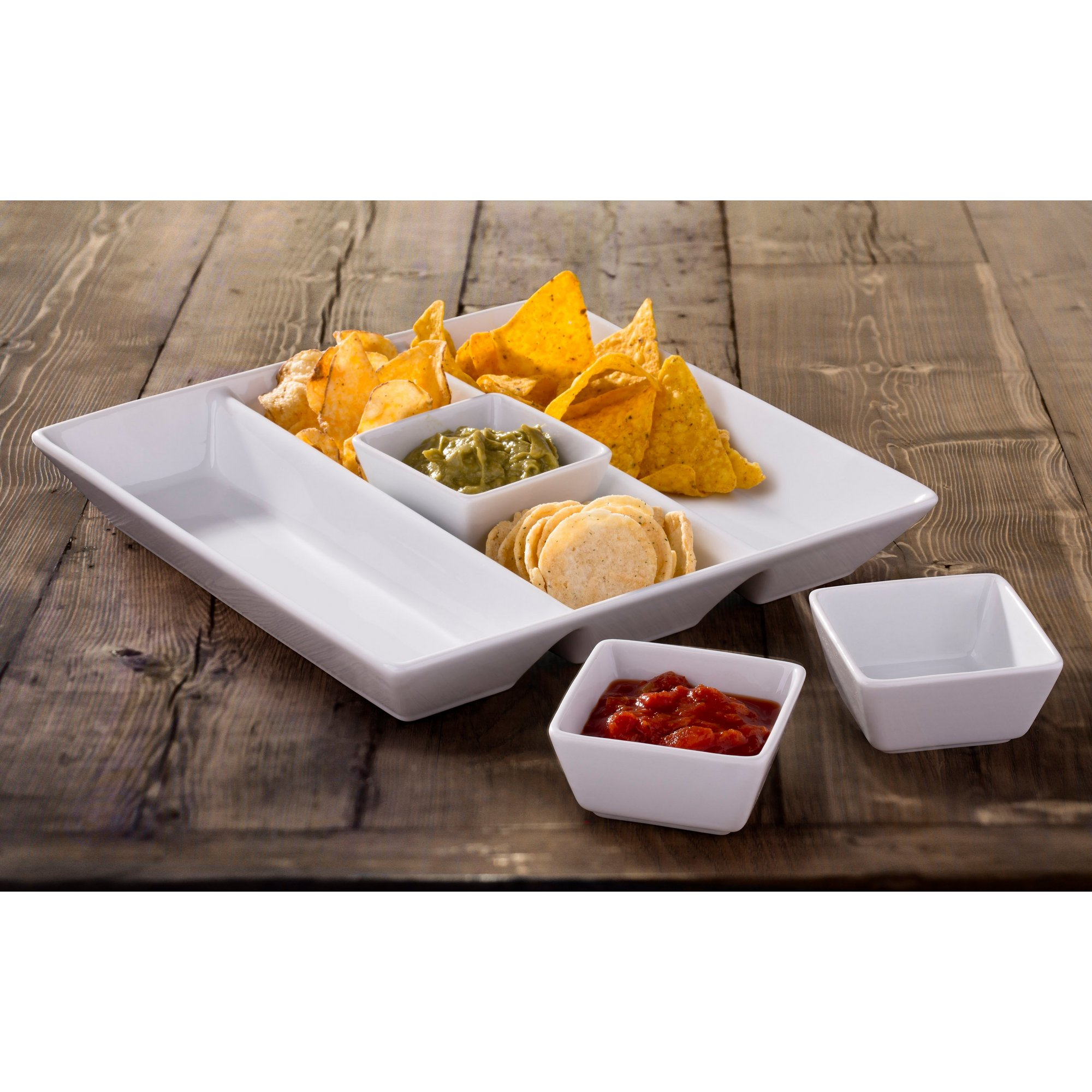 Image of 4-Piece Chip and Dip Serving Set