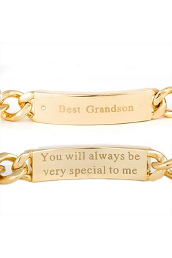 Gold Plated Grandson Bracelet